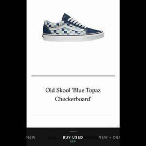 Old Skool 'Blue Topaz Checkerboard'